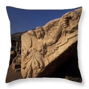 Statue In The Temple Of Domitian Throw Pillow