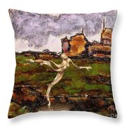 Statue Of A Zombie 2 Throw Pillow