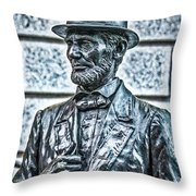 Statue Of Abraham Lincoln #7 Throw Pillow