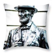 Statue Of Abraham Lincoln #8 Throw Pillow