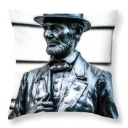 Statue Of Abraham Lincoln #9 Throw Pillow
