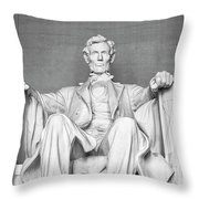 Statue Of Abraham Lincoln - Lincoln Memorial #4 Throw Pillow