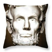 Statue Of Abraham Lincoln - Lincoln Memorial #5 Throw Pillow