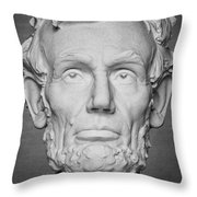 Statue Of Abraham Lincoln - Lincoln Memorial #6 Throw Pillow