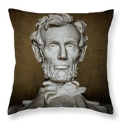 Statue Of Abraham Lincoln - Lincoln Memorial #7 Throw Pillow