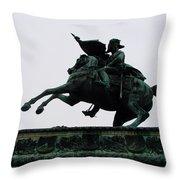 Statue Of Archduke Charles, Heldenplatz, Vienna Throw Pillow