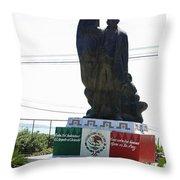 Statue Of Benito Pablo Juarez Garcia  Throw Pillow