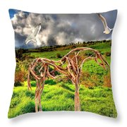 Statue Of Branches 3 Throw Pillow