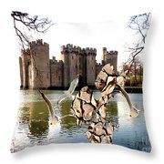 Statue Of Fish 112 Throw Pillow