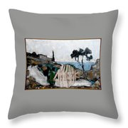 Statue Of Fish From Branches Throw Pillow