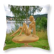 Statue Of Girl 2 Throw Pillow
