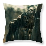 Statue Of Idle Thought Throw Pillow