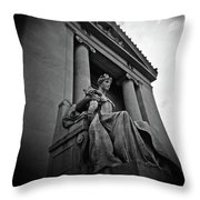Statue Of Justice At The Courthouse In Memphis Tennessee Throw Pillow