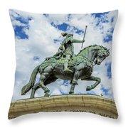 Statue Of King John I Lisbon Throw Pillow