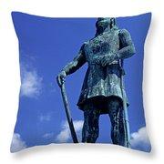 Statue Of Leif Ericksson  Throw Pillow