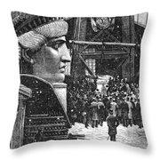Statue Of Liberty, 1881 Throw Pillow