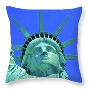 Statue Of Liberty 19 Throw Pillow