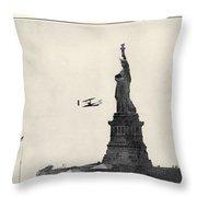 Statue Of Liberty, 1909 Throw Pillow