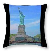 Statue Of Liberty 21 Throw Pillow