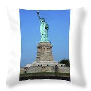 Statue Of Liberty 3 Throw Pillow