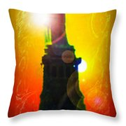 Statue Of Liberty 7 Throw Pillow