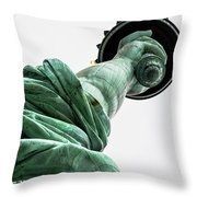 Statue Of Liberty, Arm, 3 Throw Pillow
