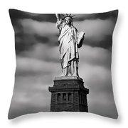 Statue Of Liberty At Dusk Throw Pillow