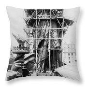 Statue Of Liberty, C1883 Throw Pillow