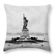 Statue Of Liberty, C1886 Throw Pillow