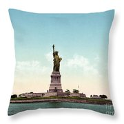Statue Of Liberty, C1905 Throw Pillow