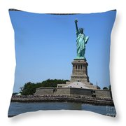 Statue Of Liberty New York America July 2015 Photo By Navinjoshi At Fineartamerica.com  Island Landm Throw Pillow
