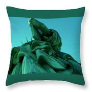 Statue Of Liberty New York City Throw Pillow