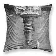 Statue Of Liberty, Paris Throw Pillow