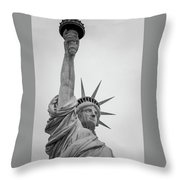 Statue Of Liberty, Portrait Throw Pillow