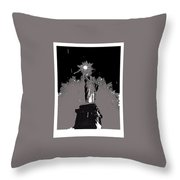 Statue Of Liberty Power Outage 1942-2014 Throw Pillow