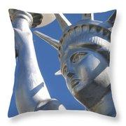 Statue Of Liberty Restaurant Courtyard Chandler Arizona 2005 Throw Pillow