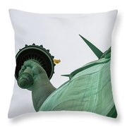 Statue Of Liberty, Torch And Crown Throw Pillow