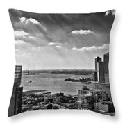 Statue Of Liberty View Throw Pillow