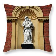 Statue Of Mother And Child Throw Pillow