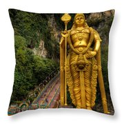Statue Of Murugan Throw Pillow by Adrian Evans