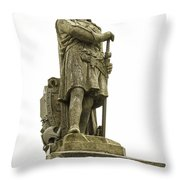 Statue Of Robert The Bruce Stirling Castle Throw Pillow