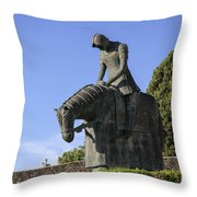 Statue Of St Francis Of Assisi  Throw Pillow