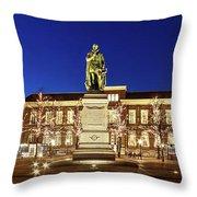 Statue Of William Of Orange On The Plein - The Hague Throw Pillow