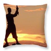 Statue On Cemerty Ridge Throw Pillow