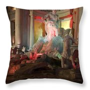 Statues At Ceasars Palace Throw Pillow
