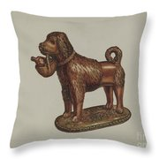 Statuette Of A Dog Throw Pillow