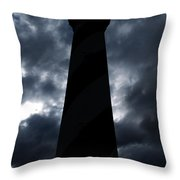 St.augustine Light House Night Throw Pillow