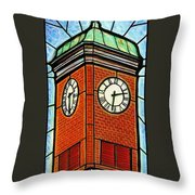 Staunton Clock Tower Landmark Throw Pillow