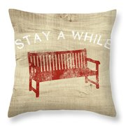 Stay A While- Art By Linda Woods Throw Pillow
