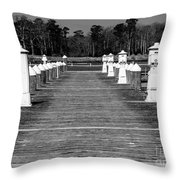 Stay Between The Lines Bw Throw Pillow